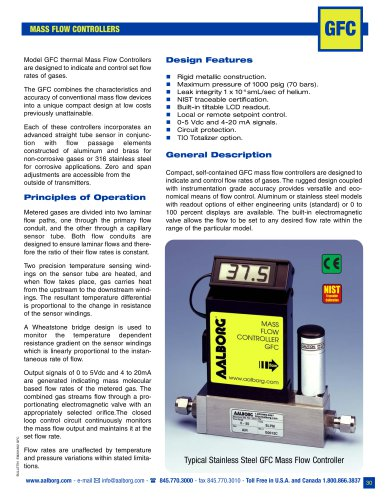 MASS FLOW CONTROLLERS GFC