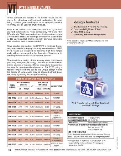 Nadeldosierventil aus Kunststoff, VT und VT6
