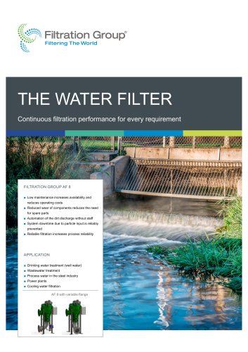 Filtration Group Water Filter