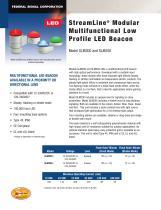 SLM300 and SLM350 Streamline® Modular Multifunctional Low Profile LED Beacon