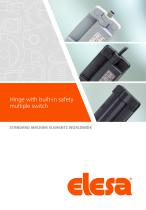 CFSW., CFMW. - Hinge with built-in safety multiple switch