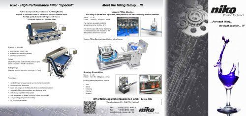 Filling Machine / In-Line Filler