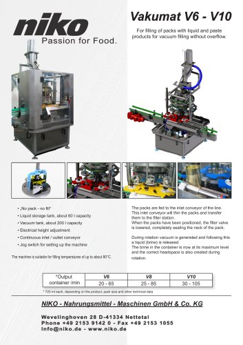 Vacuum Machine V6 - V10
