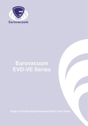 EVD-VE series:  Small oil rotary vane vacuum pumps